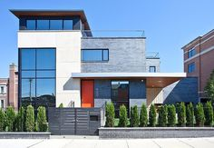 Modern House Nearby Lake Michigan With a Sense of Verticality by Joseph Trojanowski #lake #architecture #modern