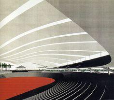 Fumihiko Maki. Japan Architect 16 Winter 1994: 177 | RNDRD #perspectives #renderings #drawings #fumihiko #architecture #maki