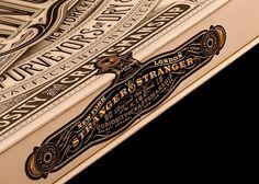 Beautiful Packaging from Stranger & Stranger #packaging #typography