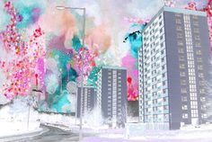 Illustrating Rain - art, painting, fine art, artistic, creative