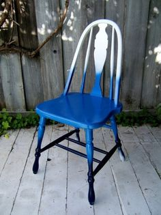 diy project: shades-of-blue ombre chair | Design*Sponge
