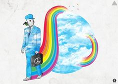 The Peacemaker by ~Amarelle07 on deviantART #adrian #street #peace #amarelle07 #heaven #watercolor #rainbow #kotwicki