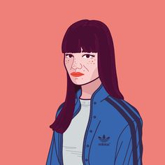 Portrait illustration #model #portrait #vector #illustration