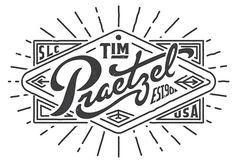 Type Works 12 13 by Tim Praetzel #lettering #design #graphic #logo #vintage #type #typography