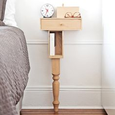 Bedside Console with Leg by Pelle #tech #flow #gadget #gift #ideas #cool