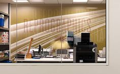 NPR Headquarters. Designed by Poulin + Morris / www.enviromeant.com #graphics #wall