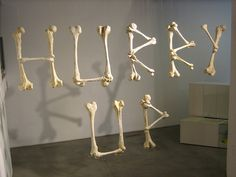 http://farm1.static.flickr.com/149/387418783_796964b116.jpg #display #exhibition #type #bones #typography