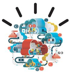 IBM ad illustration by Jing Zhang