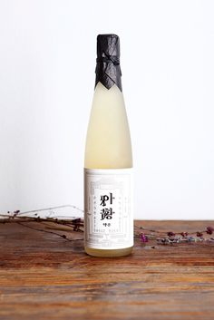 South Korean rice wine packaging