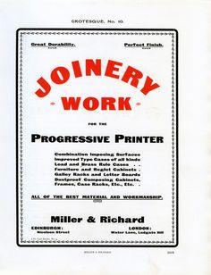 Miller and Richard's Grotesque No. 10 type specimen #type #specimen #typography