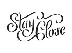 Typeverything.com - Stay Close by Bart Vollebregt. - Typeverything #stencil #script #typography
