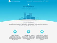 Xero Roadshow US #blues #web #icons