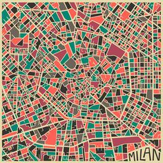 Modern Abstract City Maps #illustration #art