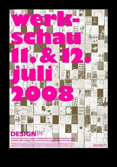 Stefanie Schwarz Graphic Design #design #graphic #poster #werkschau #typography