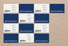 Juice by Christopher Doyle & Co. #printed materials #business card