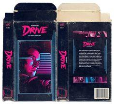 Drive Retro VHS Cover Mockup #cover #flurorescent #drive #retro