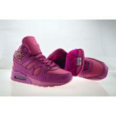 Air Max Nike Shoes Womens High Cut Fur for Winter Rose