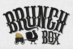 Brunch Box | The Black Harbor #lettering #brunch #design #box #identity #logo