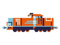 Rumble Rumble #train #illustration #minimal