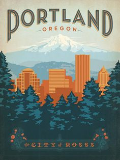 Portland #illustration #portland #poster