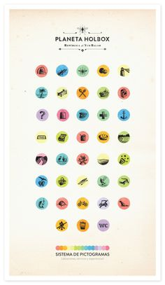 Holbox Pictograms on the Behance Network #holbox #icons #poster #pictograms