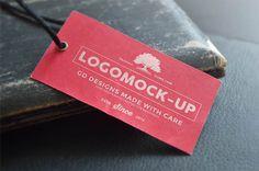 Paper Tag label Mockup