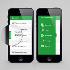 Comma on Behance #app #ios