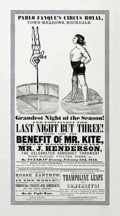 For the Benefit of Mr. Kite #beatles #victorian #print #circus #poster #magical