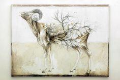 Nunzio Pacis Graphite and Oil Paintings Merge Nature and Anatomy plants nature animals anatomy #painting #graphite #art