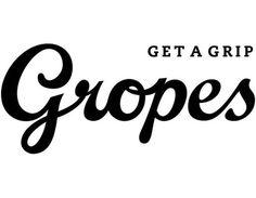 Gropes logo #lettering #script