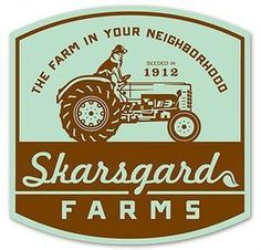 Skarsgard Farms by 3 Advertising #badge #script #retro #illustration #lockup #complicated #vintage #farm #logo