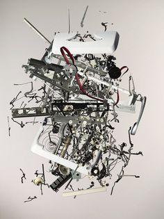 Apart_Typewriter.jpeg (901×1200) #todd #disassembly #photography #pieces #exploded #mclellan #typewriter