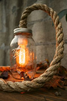 Schedvin #bulb #jar #rope