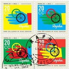 Rapha Stamps #colourful #stamps #rapha #postage