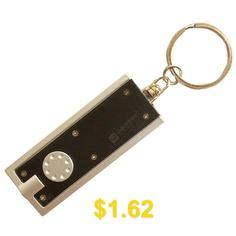 Square #LED #Small #Keychain #Flashlight #- #BLACK