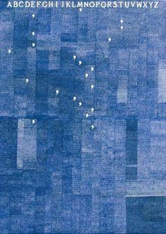 +++++++++++++++++++FOR+CCW+Alighiero+Boetti+Mettere+al+mondo+il+moneo+%281978%29+ballpoint+pen+on+paper+via+tumblr.jpg (JPEG Image, 496x700 pixels) - #boetti #mettere #alighiero #painting #blue #typography
