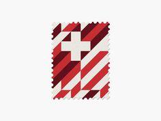 Switzerland #stamp #graphic #maan #geometric #illustration #minimal #2014 #worldcup #brazil