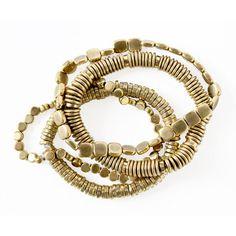 Stack Bracelet Gold Plated jewelry, multi, matthew burnett #jewelry #bracelet