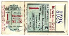 Vintage Baseball Tickets