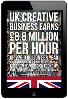 UK creative business earns £8.8 million per hour.