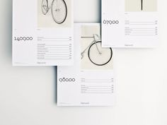 Hojmark Cycles brand identity #brand #layout #editorial #bicycle