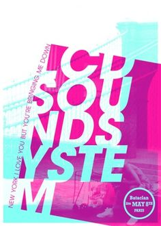 GigPosters.com - Lcd Soundsystem #poster #music #lcd soundsystem #guillaume jouannet