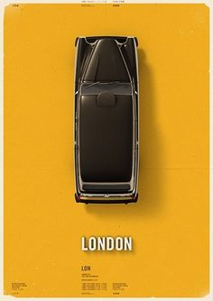 City Cab Poster by Mehmet Gozetlik | TrendLand: Fashion Blog & Trend Magazine #london #city #cab #poster