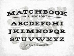 Matchbook Font #font #simon #typeface #matchbook #walker #typography