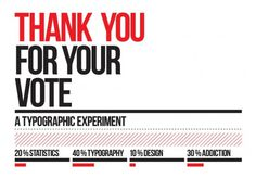 THANK YOU FOR YOUR VOTE #typography