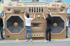 Mini Ghettoblaster #inspiration #abstract #creative #design #unique #sculptures #cool