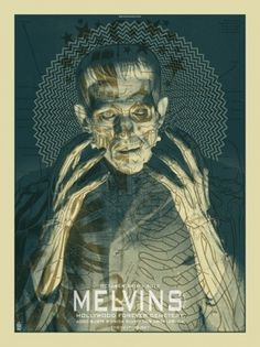 Brian Ewing PORTFOLIO | ROCK POSTERS > MELVINS LITE #poster