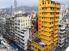 Okuda Transforms Hong Kong Building With Kaleidoscopic Animal Print