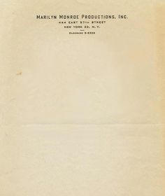 Interesting Letterhead Designs | Letterheady #monroe #york #letterhead #marilyn #new