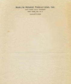 Interesting Letterhead Designs | Letterheady #new york #letterhead #marilyn monroe